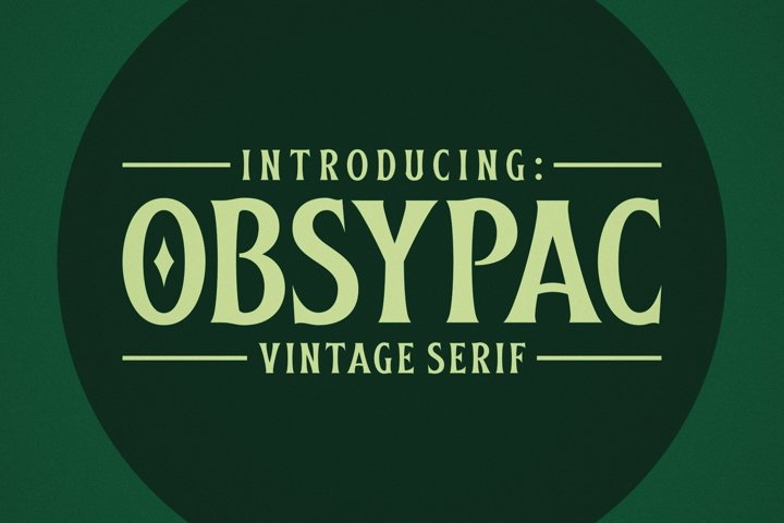 Obsypac | Vintage Serif