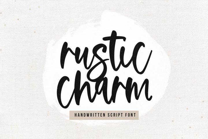 Rustic Charm - A Handwritten Script Font