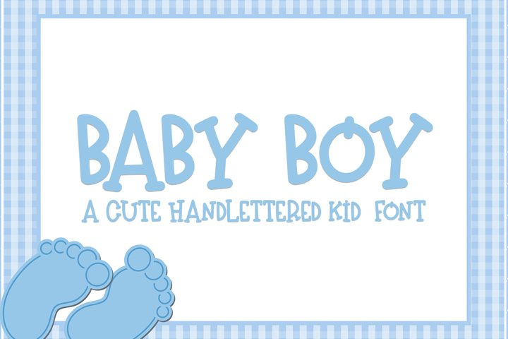 Baby Boy - A Hand-Lettered Kid Font
