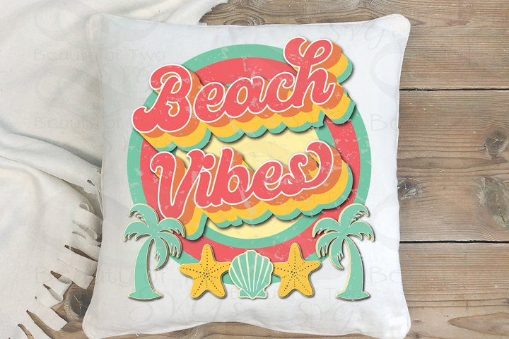 Sublimation Beach Vibes png Retro png Beach Ocean Love png