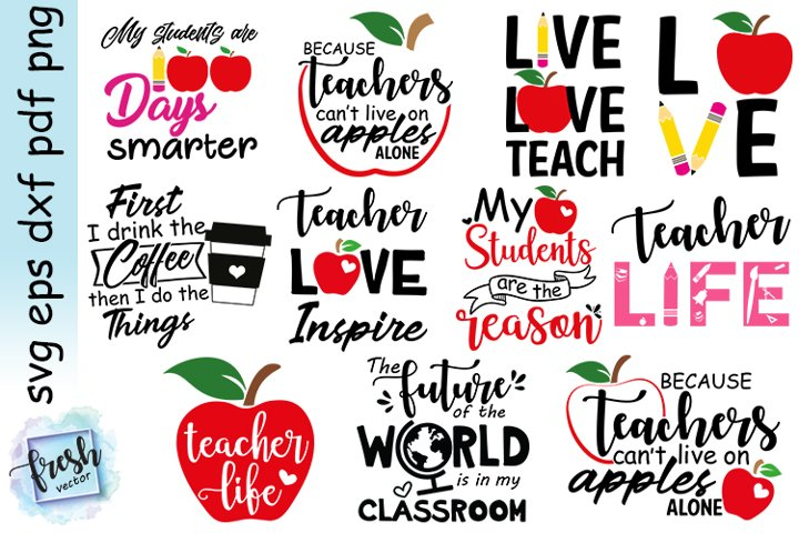 Teacher svg Bundle School Svg Bundle Teacher Life Svg Quote