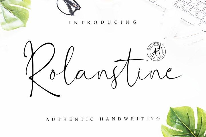 Rolanstine Authentic Signature