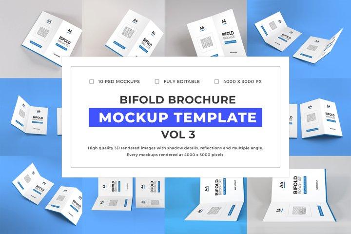 Bifold Brochure Mockup Template Bundle Vol 3
