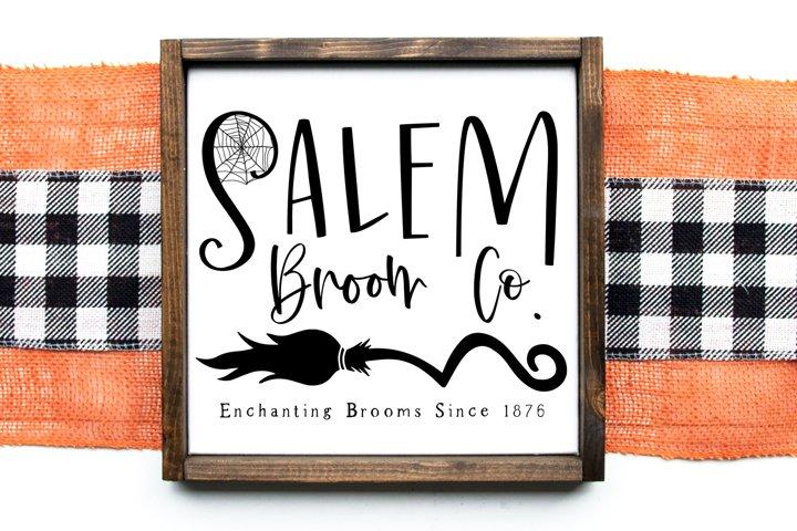 Salem Broom Co. Vintage Sign SVG