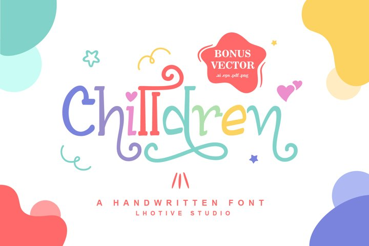 Chilldren Handwritten | Bonus Vector