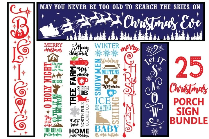Christmas porch Sign Quotes Bundle svg, Christmas porch sign