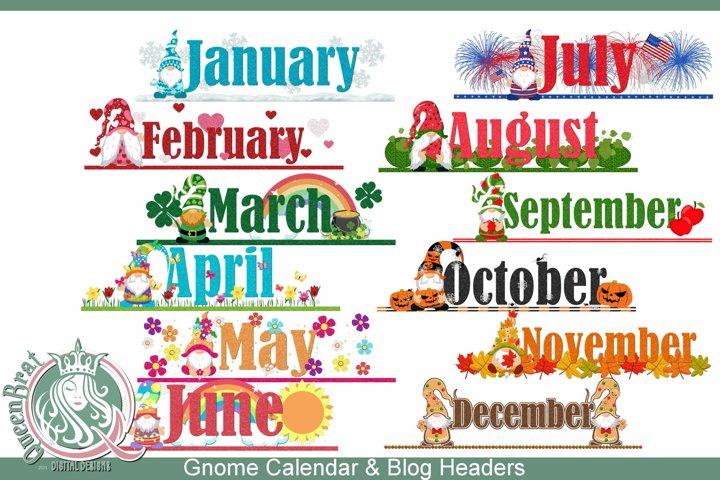 Gnome Calendar Blog Toppers