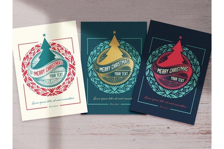 Christmas Greeting Card Layout