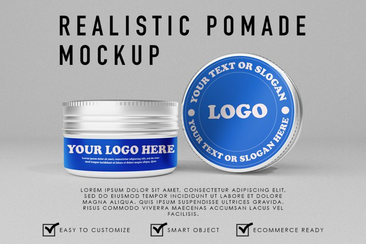 Premium Realistic Pomade/Cosmetic Container