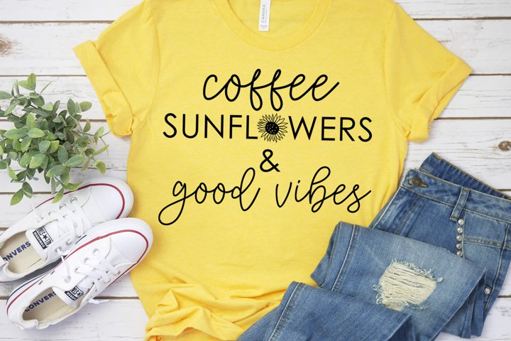Coffee, Sunflowers, and Good Vibes