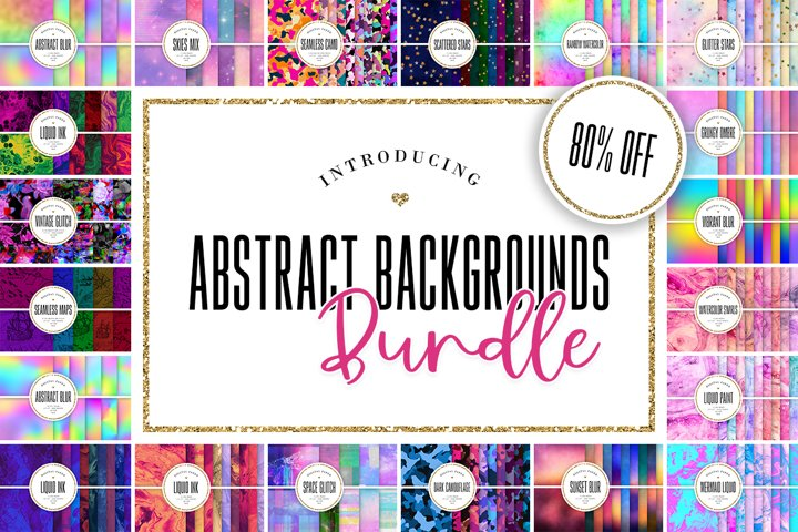 Abstract Digital Paper BUNDLE - 236 Backgrounds