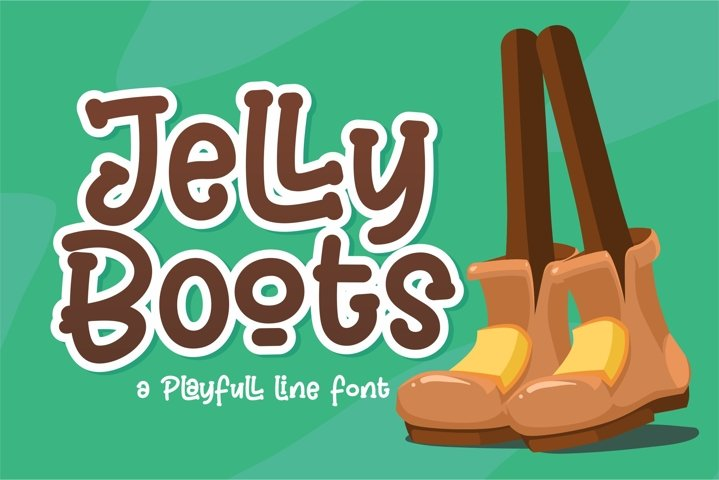 Jelly Boots - Playfull Line Font