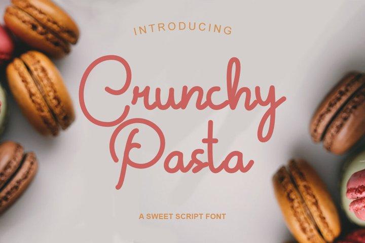 Crunchy Pasta | Sweet Monoline Font