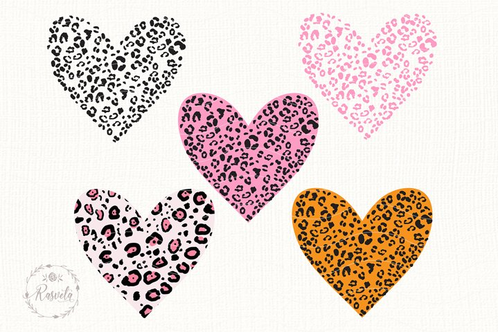 Heart With Leopard Texture