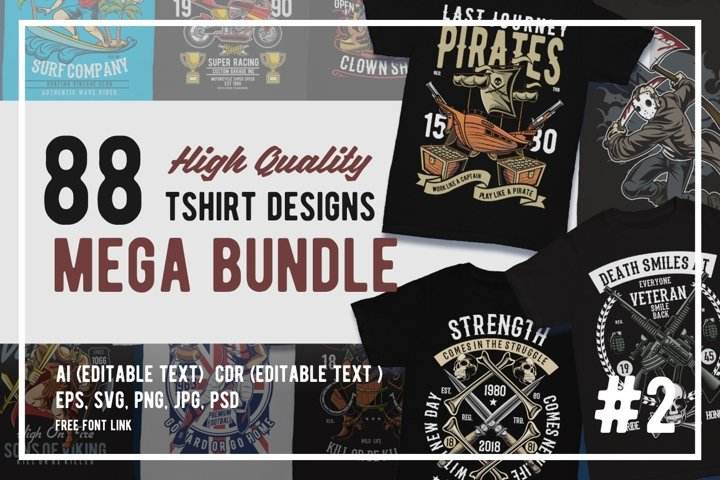 88 Tshirt Designs Mega Bundle #2
