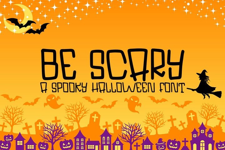 Be Scary - A Hand-Lettered Halloween Font