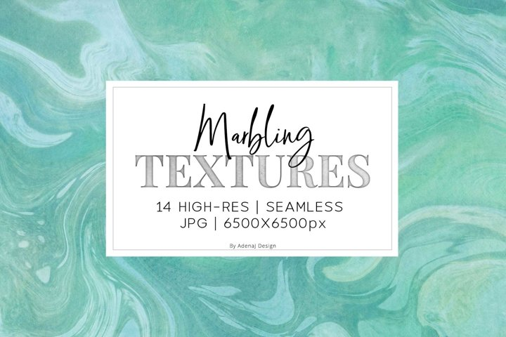 14 Green & Blue Marbling Textures