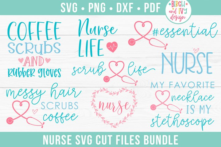 Nurse SVG Bundle, Nurse Life SVG Cut Files