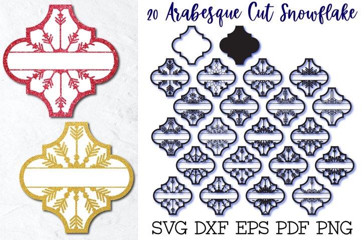 Arabesque Snowflake Monogram, 20 designs