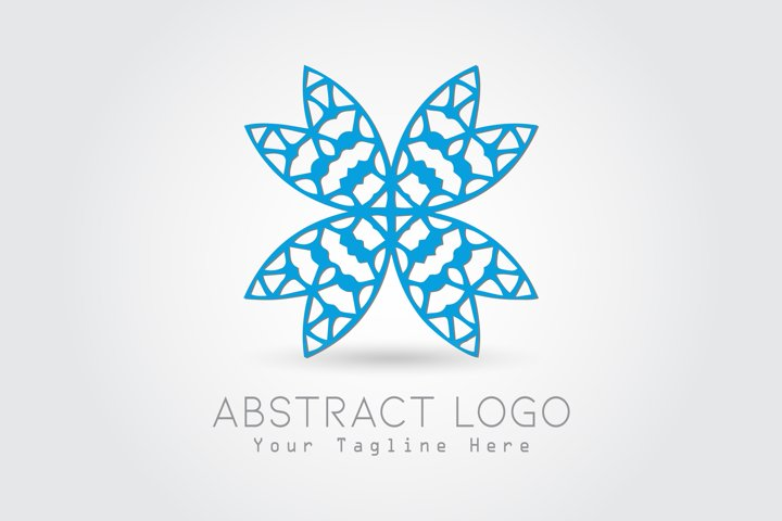 Logo Abstract Butterfly Blue Color