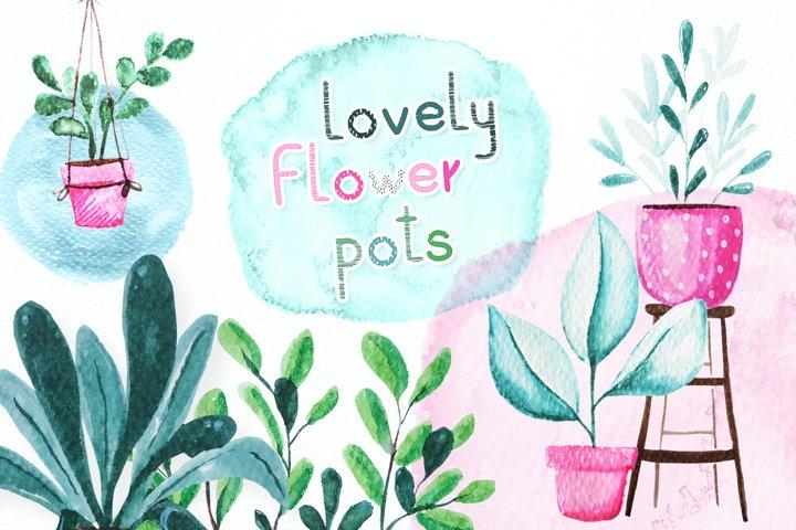 Lovely flower pots
