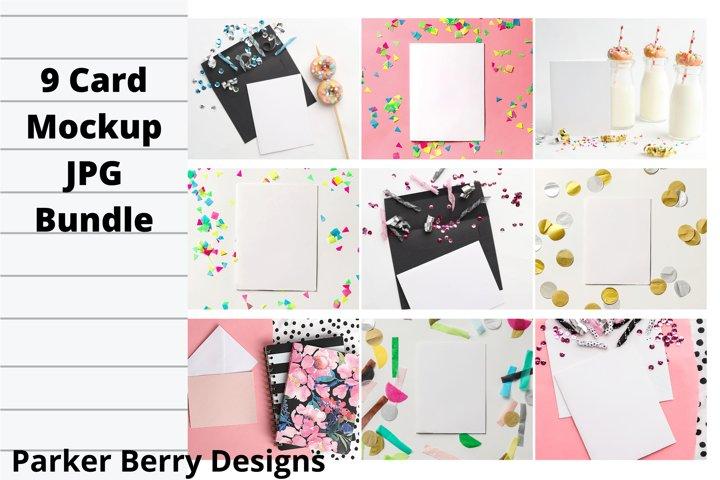 Card and envelope mockup bundle