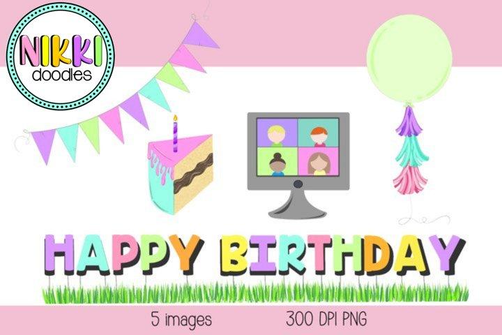 Virtual Birthday Party Set 1