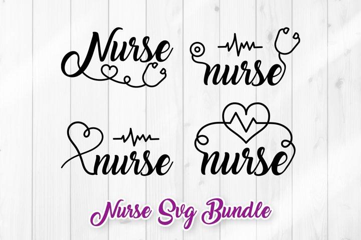 Nurse SVG - Stethoscope Design