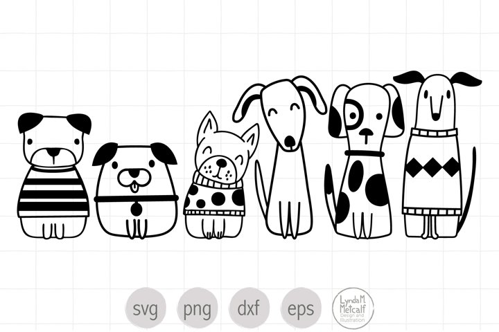 Six Cute Dogs Mini Bundle SVG Ready Cut File