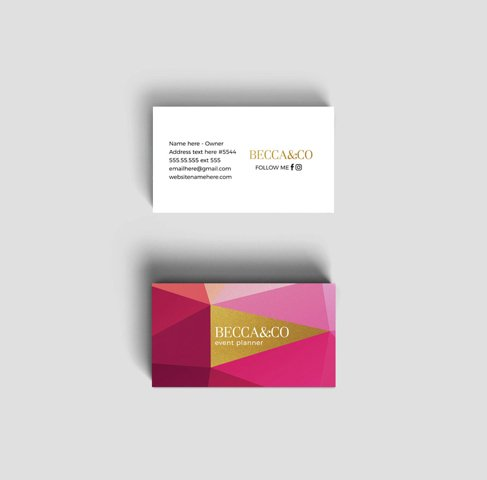 Becca double sided business card