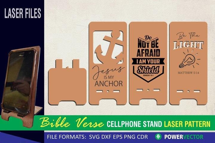 Cellphone Stand Laser File, Bible Verse SVG, CNC Cut Files