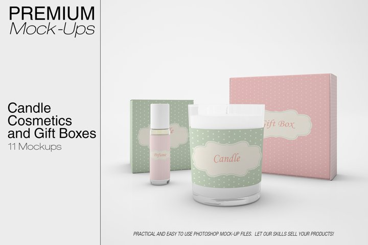 Candle, Cosmetics & Gift Boxes Set