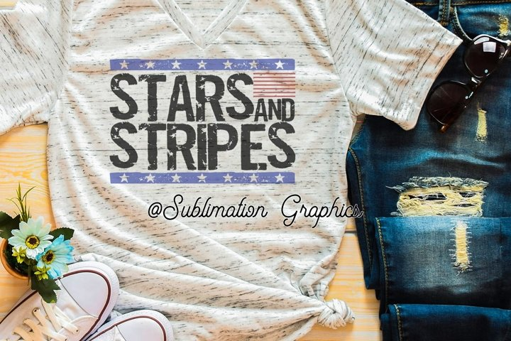 Stars & Stripes Sublimation PNG
