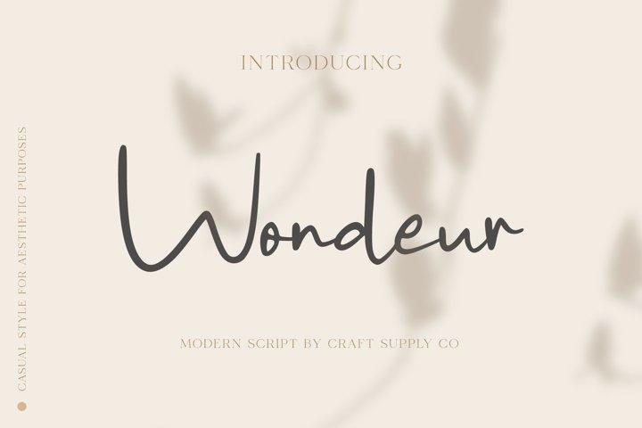 Wondeur - Modern Script Font