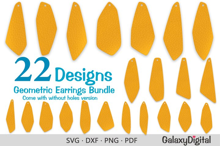 Earring SVG, Asymmetric Geometric Earring Templates Bundle