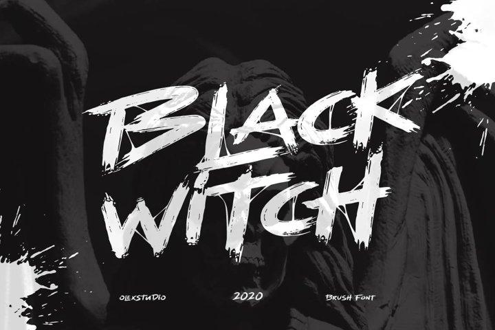BLACK WITCH - Brush Font