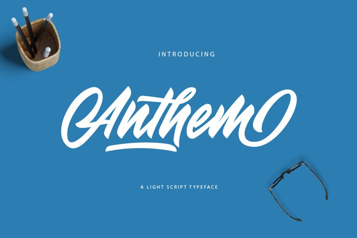 Anthem Typeface example
