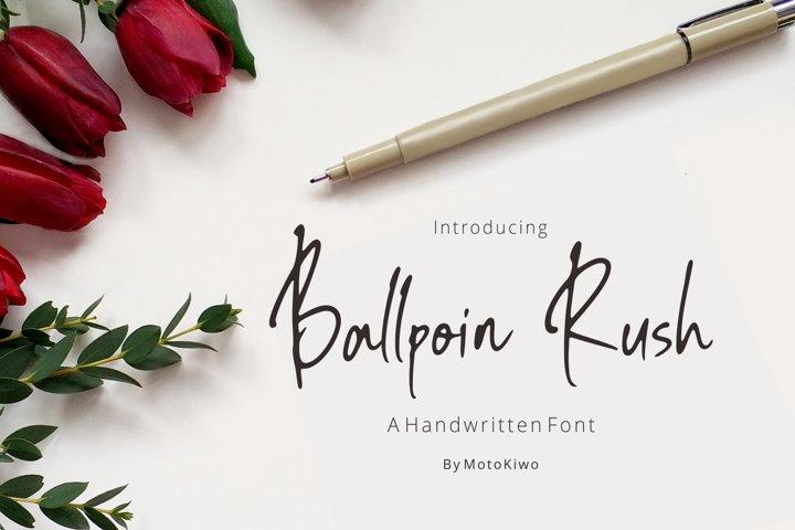Ballpoint Rush, Handwritten Font