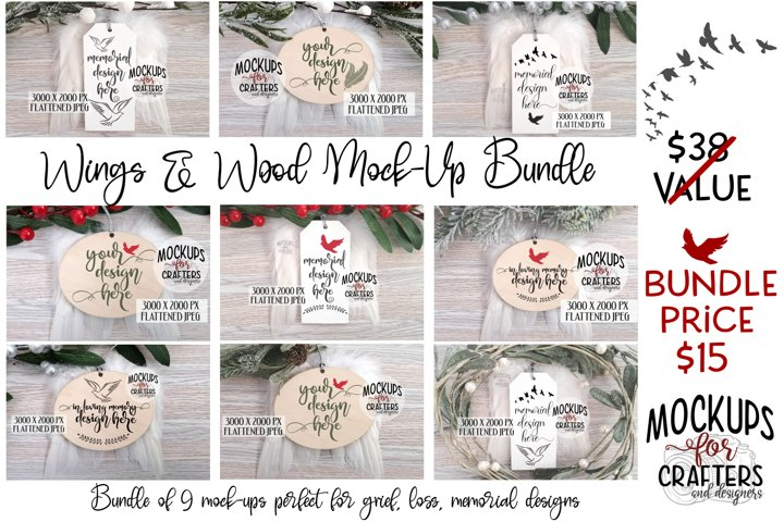 WINGS & WOOD ORNAMENT/TAG MOCK-UP BUNDLE