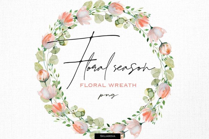 Floral season. Wreath #4