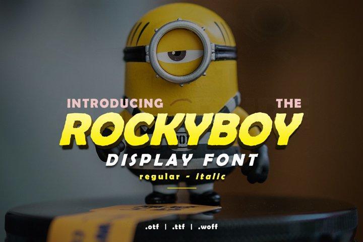 Rocky Boy Display Font