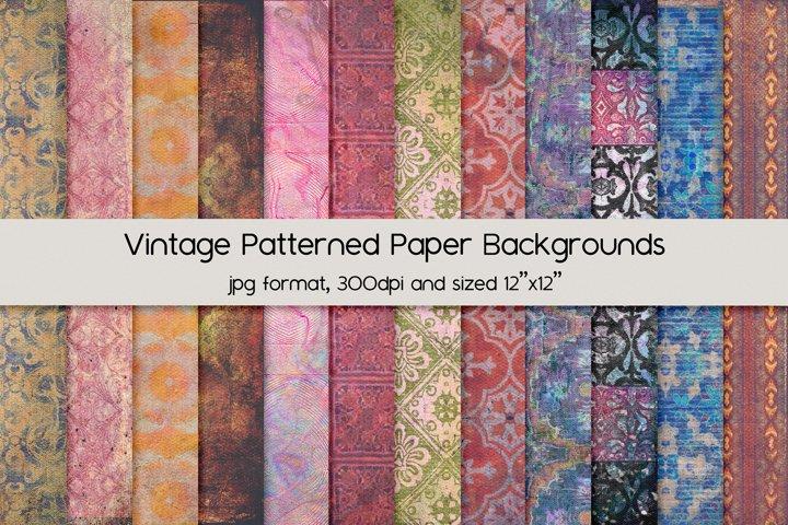 Vintage Patterned Paper Backgrounds
