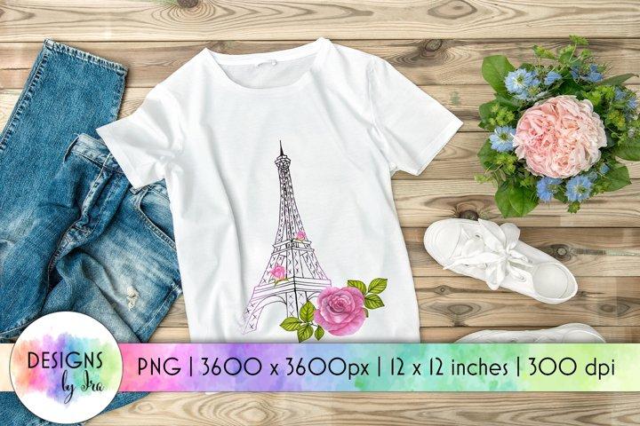 Love in Paris Deisgn   Eiffel Tower PNG   Valentines Day