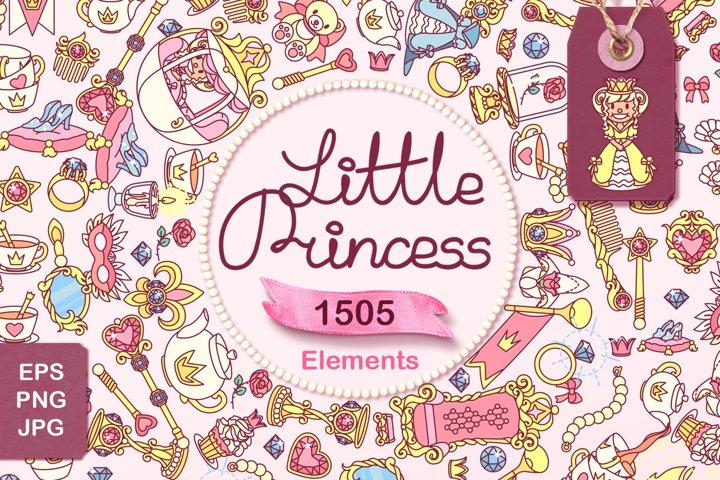 vector Little Princess. Cute queen