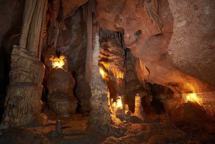 Cave with stalactites and stalagmites