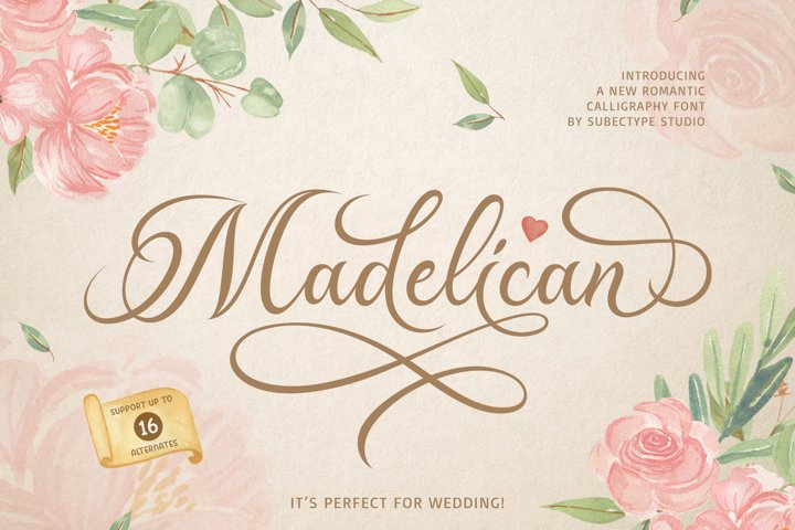 Madelican Calligraphy Font