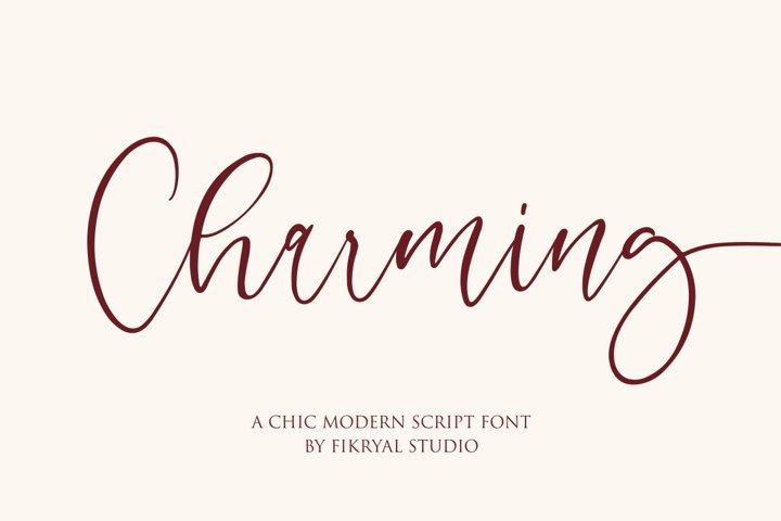 Charming - chic modern script font