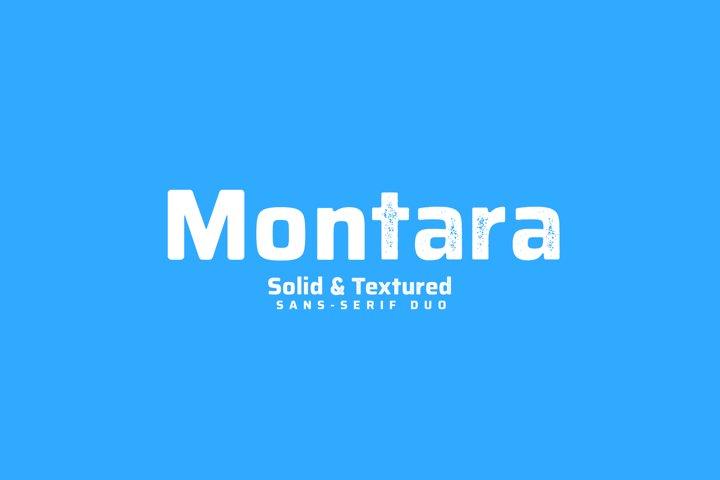 Montara - Sans serif duo Clean+Textured version