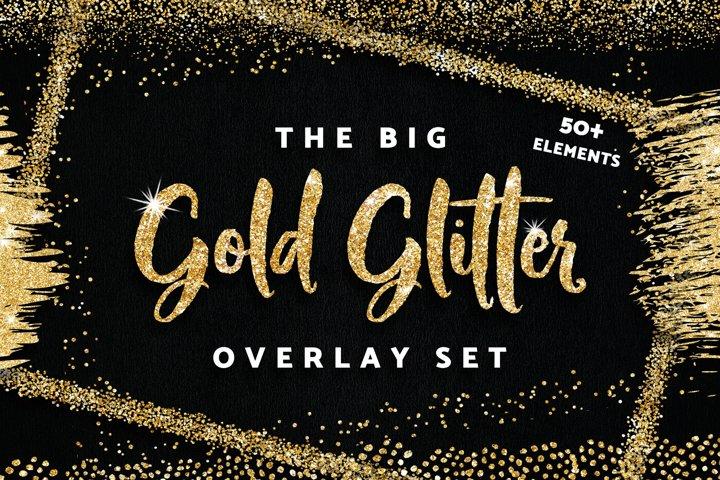 Gold Glitter Frames Borders Confetti