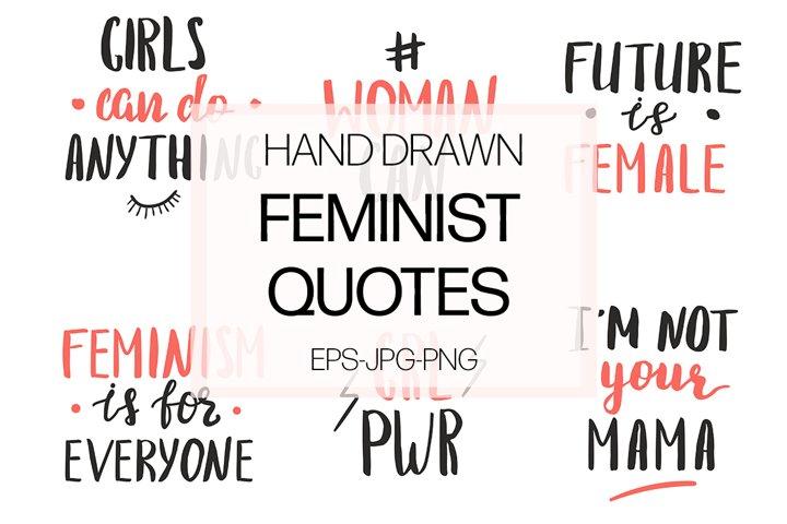 Feminist quotes set